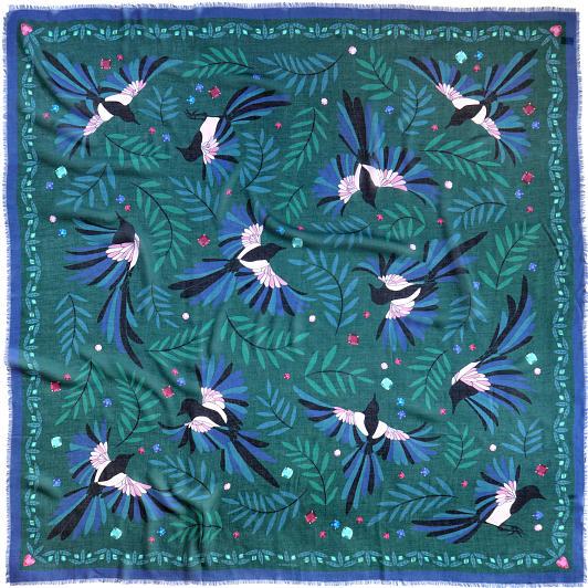 lechalebleu-modal-and-silk-scarf-treasure-hunters-green