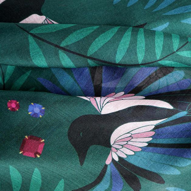 lechalebleu-modal-and-silk-scarf-treasure-hunters-green-closeup