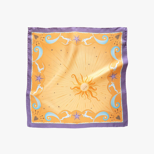 lechalebleu-silk-twill-bandana-beautiful-as-the-moon-orange