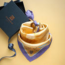lechalebleu-silk-twill-bandana-beautiful-as-the-moon-orange-gift-box