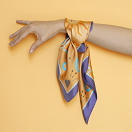 lechalebleu-silk-twill-bandana-beautiful-as-the-moon-orange-on-hand