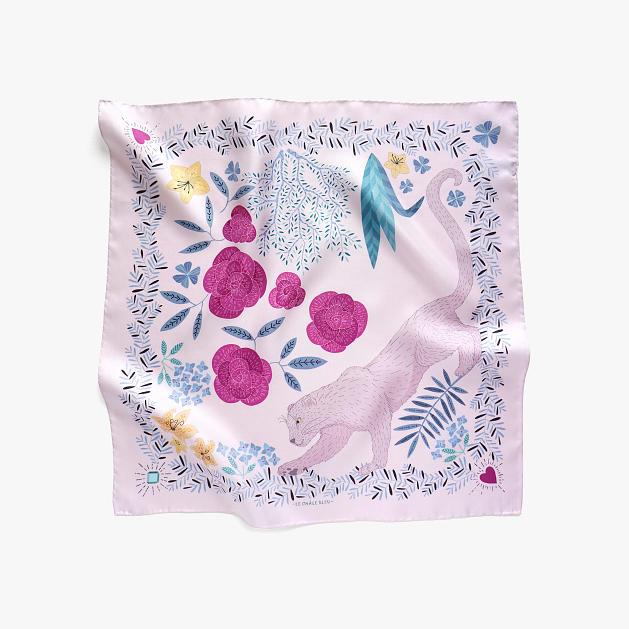 lechalebleu-silk-twill-bandana-panthere-pink