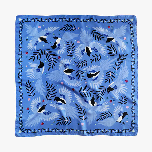 lechalebleu-silk-twill-scarf-treasure-hunters-blue