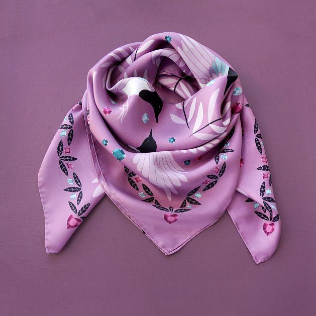 lechalebleu-silk-twill-scarf-treasure-hunters-pink-folded2