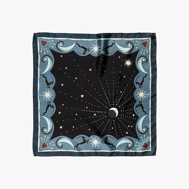 LE-CHALE-BLEU-silk-twill-bandana-beautiful-as-the-moon-black-1