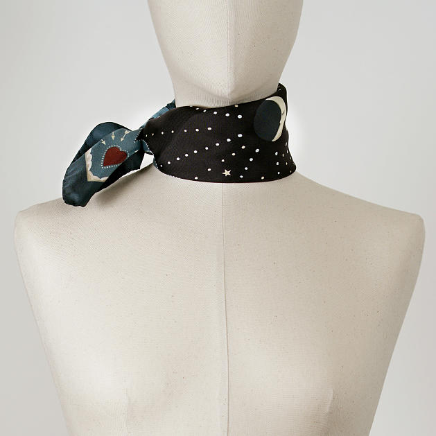 LE-CHALE-BLEU-silk-twill-bandana-beautiful-as-the-moon-black-3