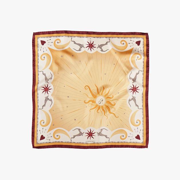LE-CHALE-BLEU-silk-twill-bandana-bright-as-the-sun-orange-red-1