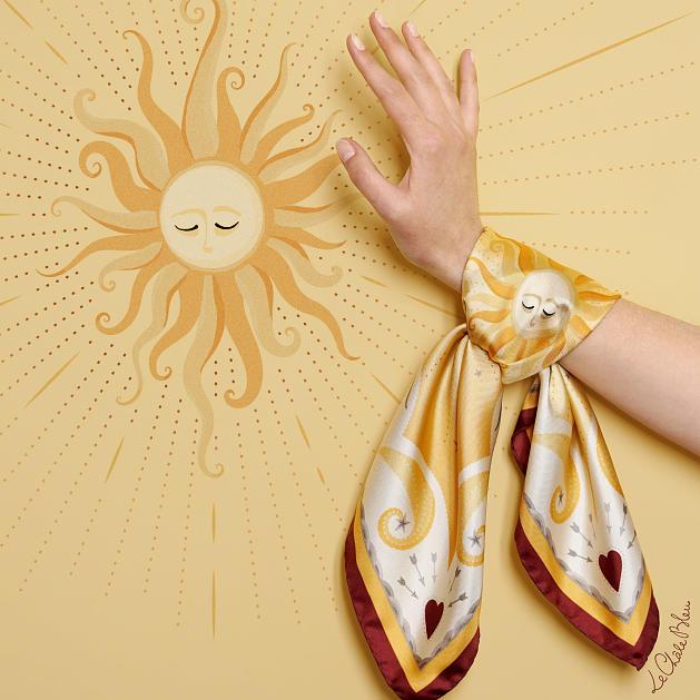 LE-CHALE-BLEU-silk-twill-bandana-bright-as-the-sun-orange-red-5