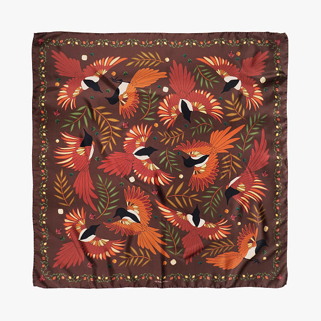 le-chale-bleu-silk-twill-scarf-magpies-chocolate-1