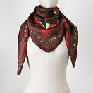 le-chale-bleu-silk-twill-scarf-magpies-chocolate-2