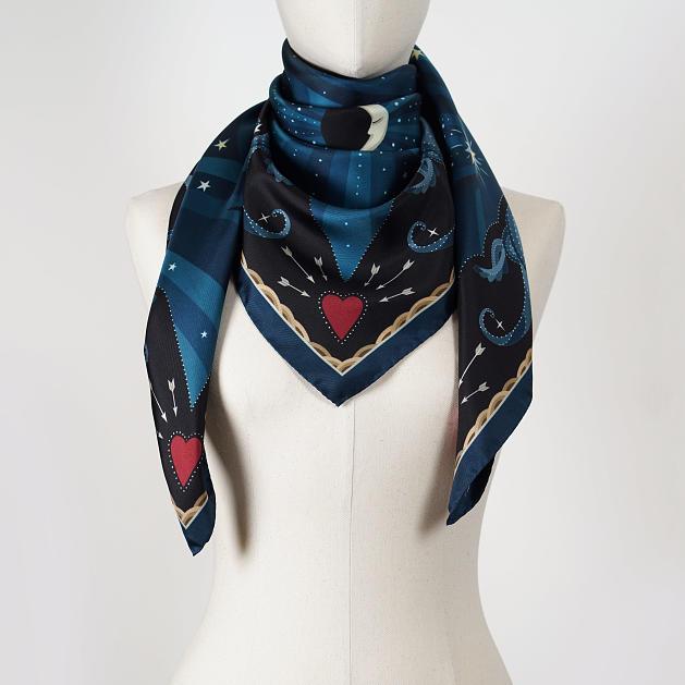 le-chale-bleu-silk-twill-scarf-moon-wavy-blue-2