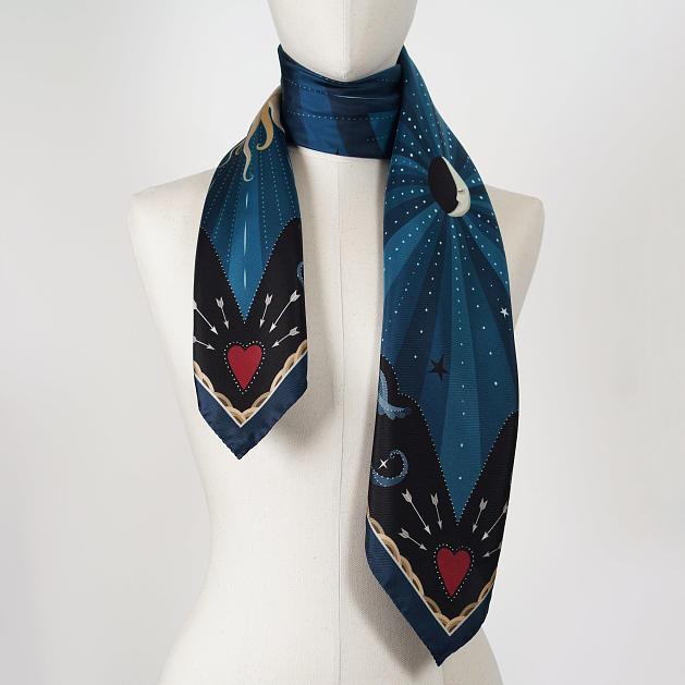 le-chale-bleu-silk-twill-scarf-moon-wavy-blue-4