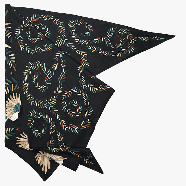 LE_CHALE_BLEU-wool-and-silk-triangle-shawl-magpies-anthracite-2